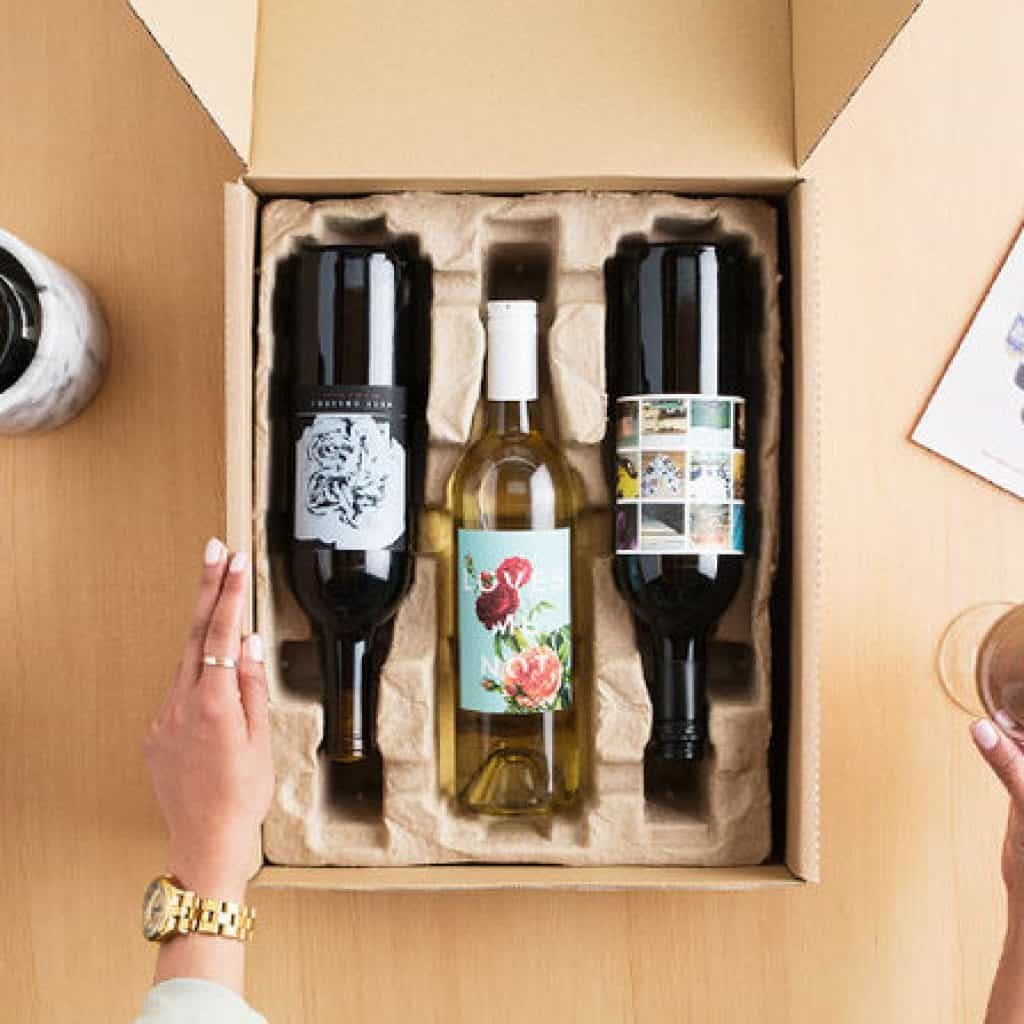 Wine Subscription with 3 bottles in a box - retirement gifts for men