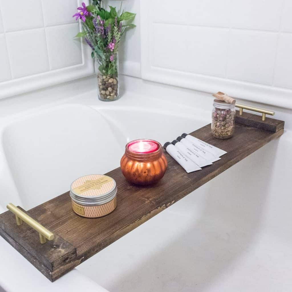 Wood Bath Tray is the thing you can miss when looking for retirements gifts for women