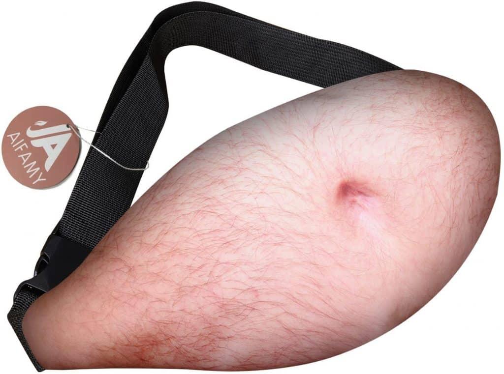 gag gift for men: beer belly waist pocket