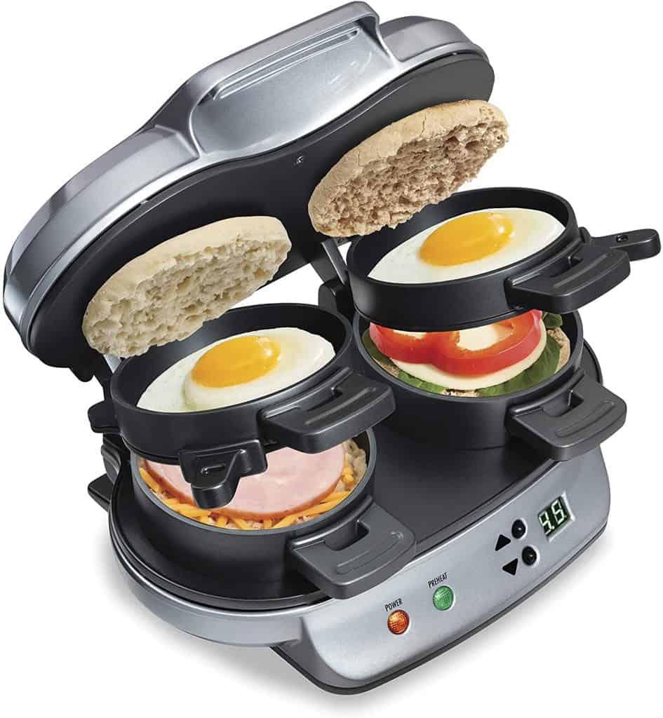 cool uncle gifts: dual breakfast sandwich maker