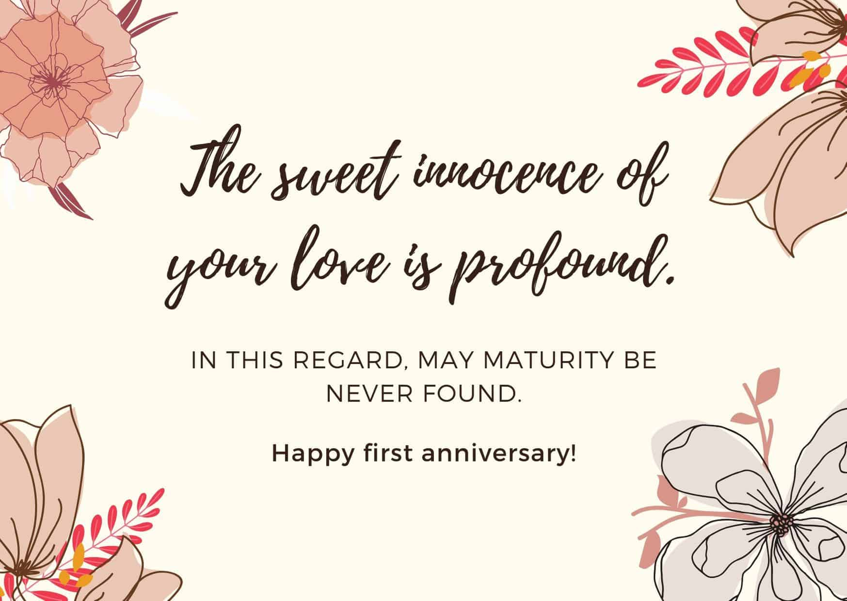 first anniversary quotes for couples