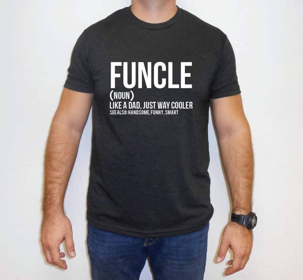 uncle gift idea: funcle t-shirt