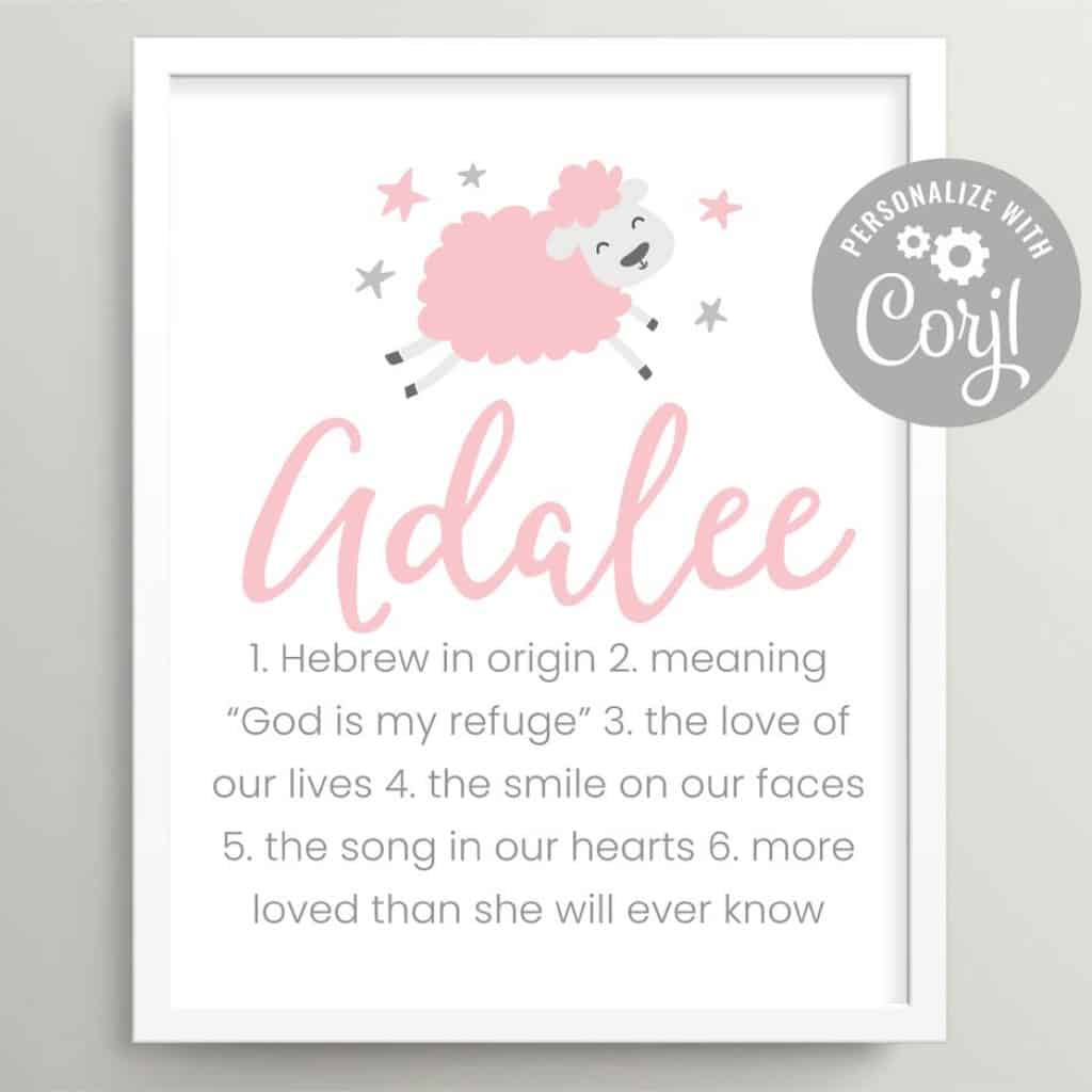 girl name wall art