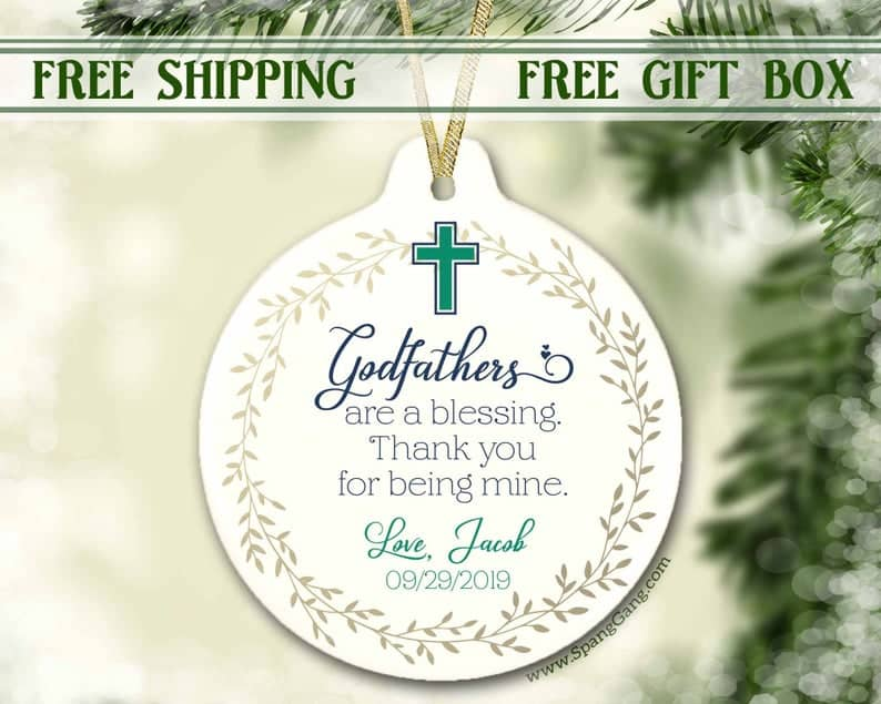 christmas gift for godfather: porcelain ornament