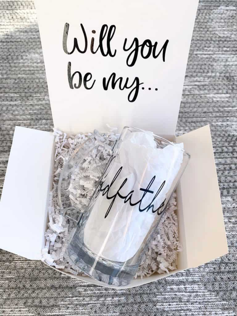 will you be my godfather gift box