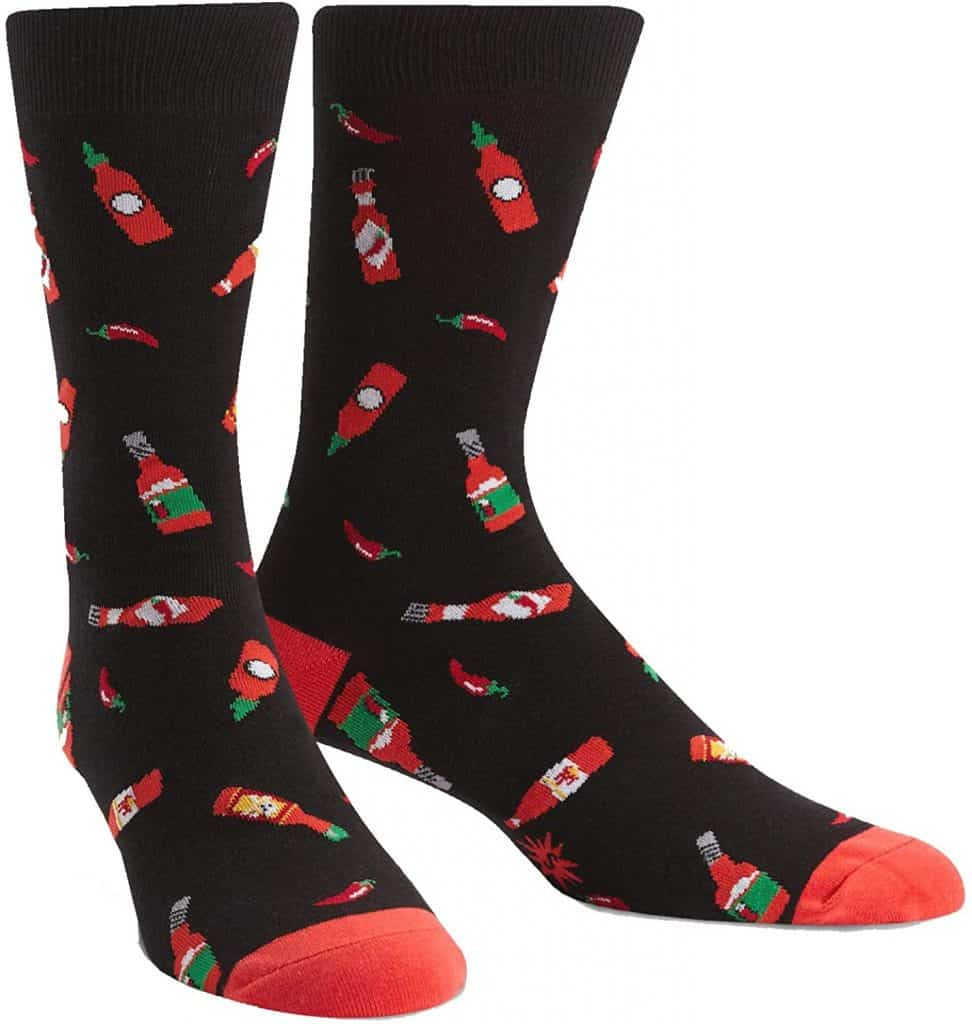 hot sauce gift idea: hot sauce socks