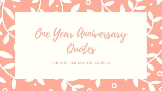 one year anniversary quotes - blog banner