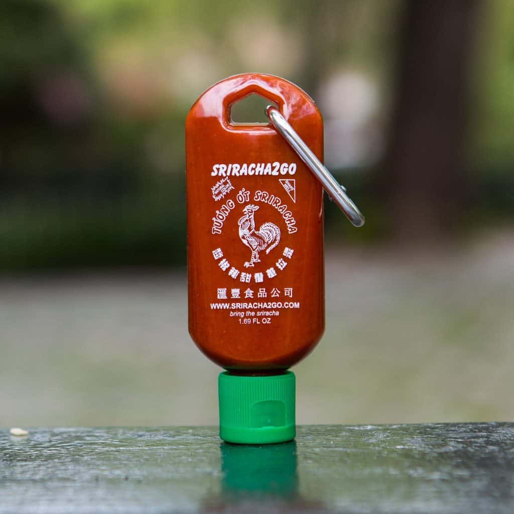 cool gift for hot sauce lovers: sriracha keychain