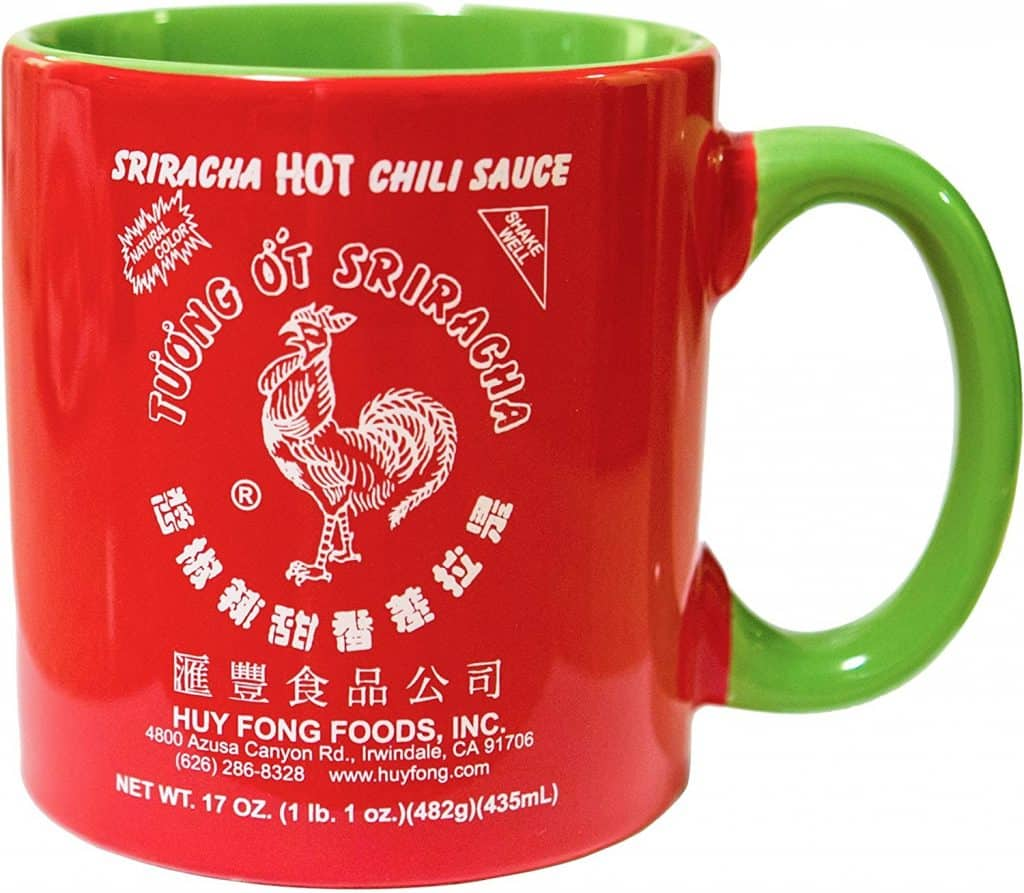 cool gifts for hot sauce lovers: sriracha ceramic mug