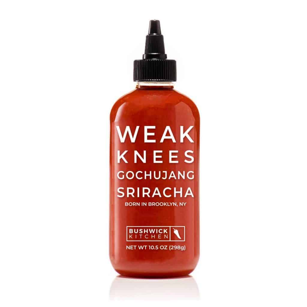 hot sauce gift: weak knees gochujang sriracha hot sauce