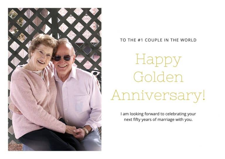 50th anniversary message for parents