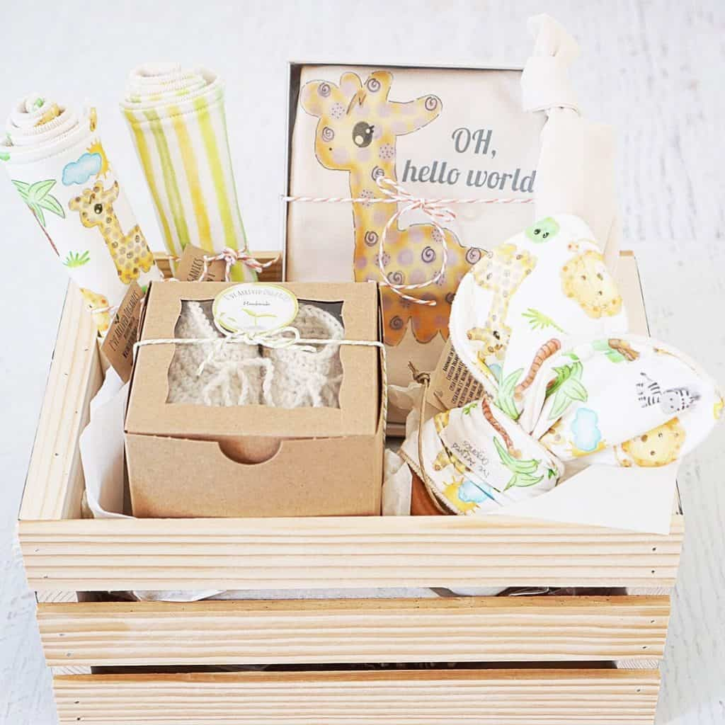 Safari Baby Gift Basket - baby gift for boys
