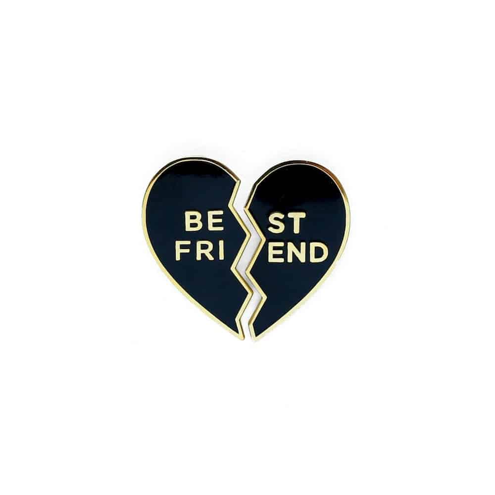 Best Friend Heart Enamel Pin