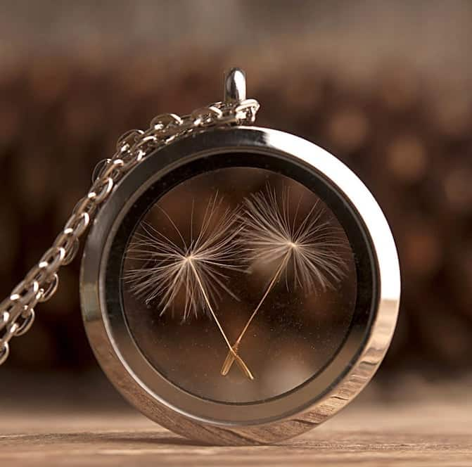 Dandelion Seeds Necklace - Matching Gifts For Long Distance Friendship