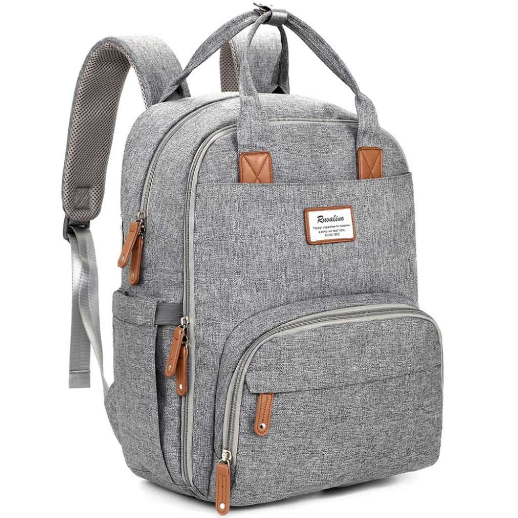 Diaper Bag Backpack in gray color