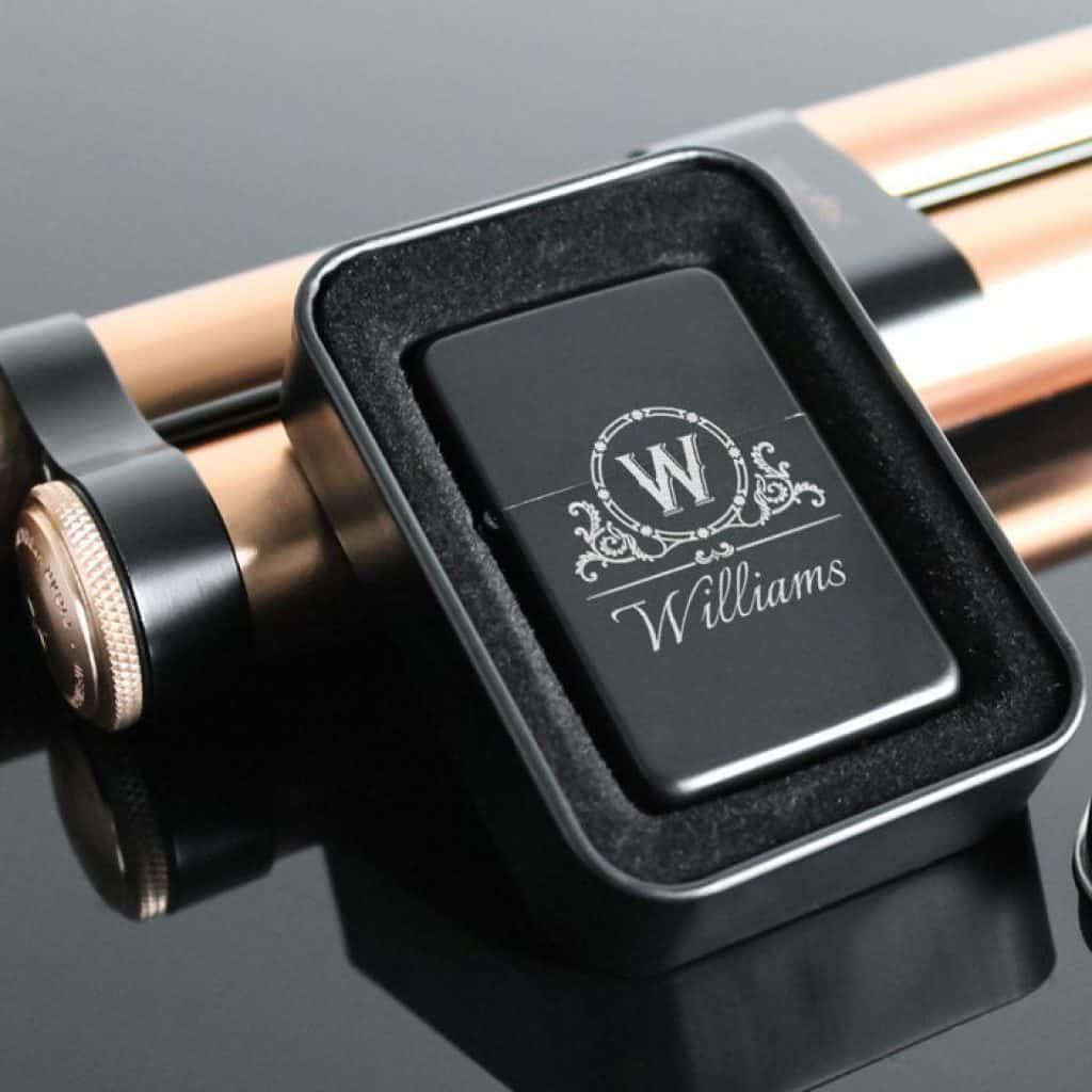 Black Engraved Lighter