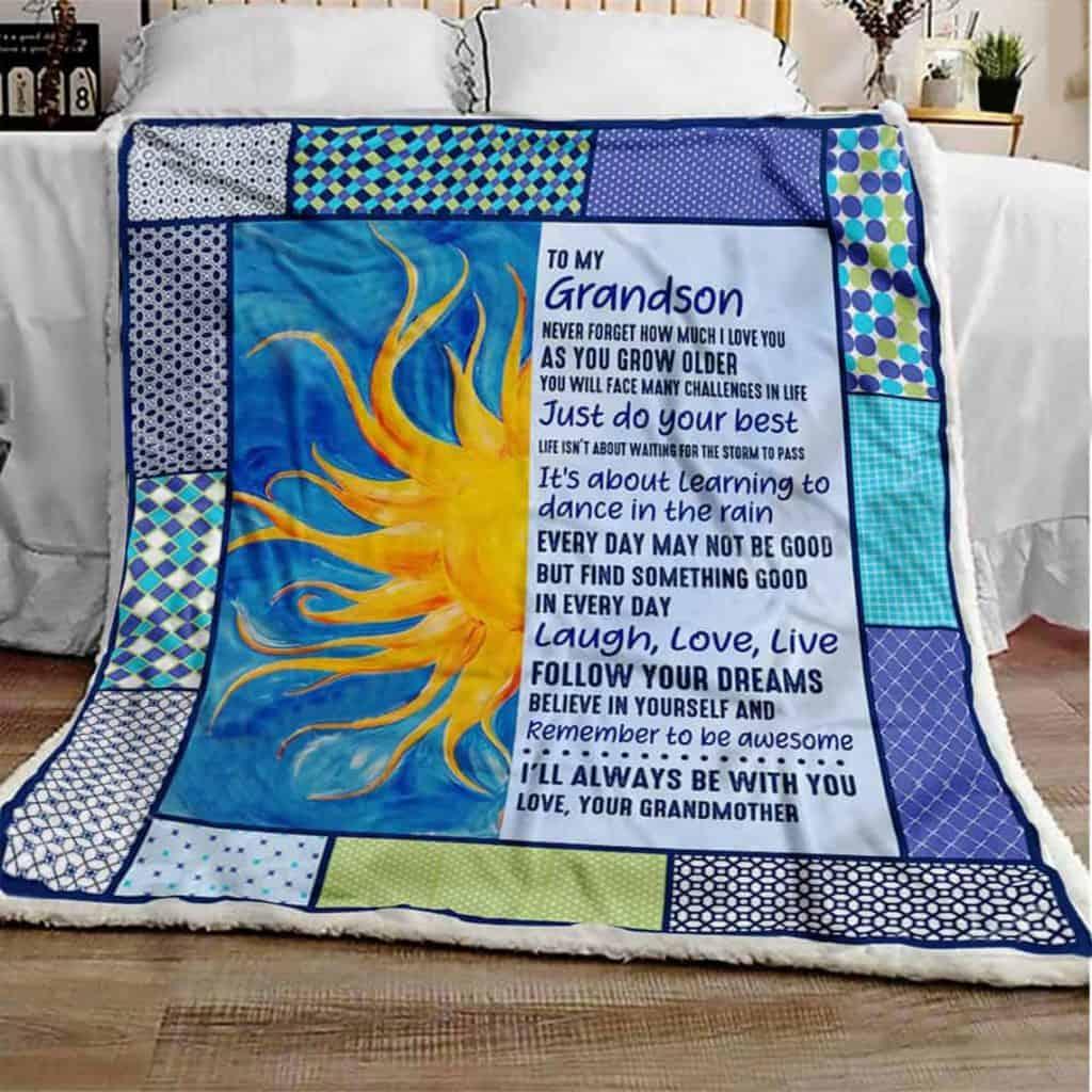 Grandson Blanket - baby boy gifts