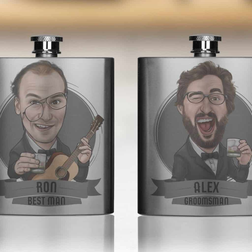 Funny Groomsmen Flask