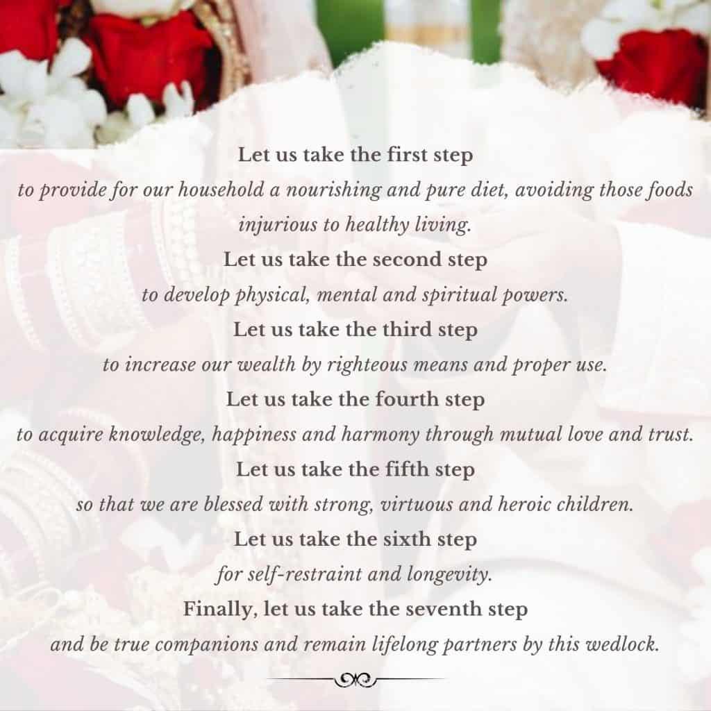 Hindu Wedding Vows