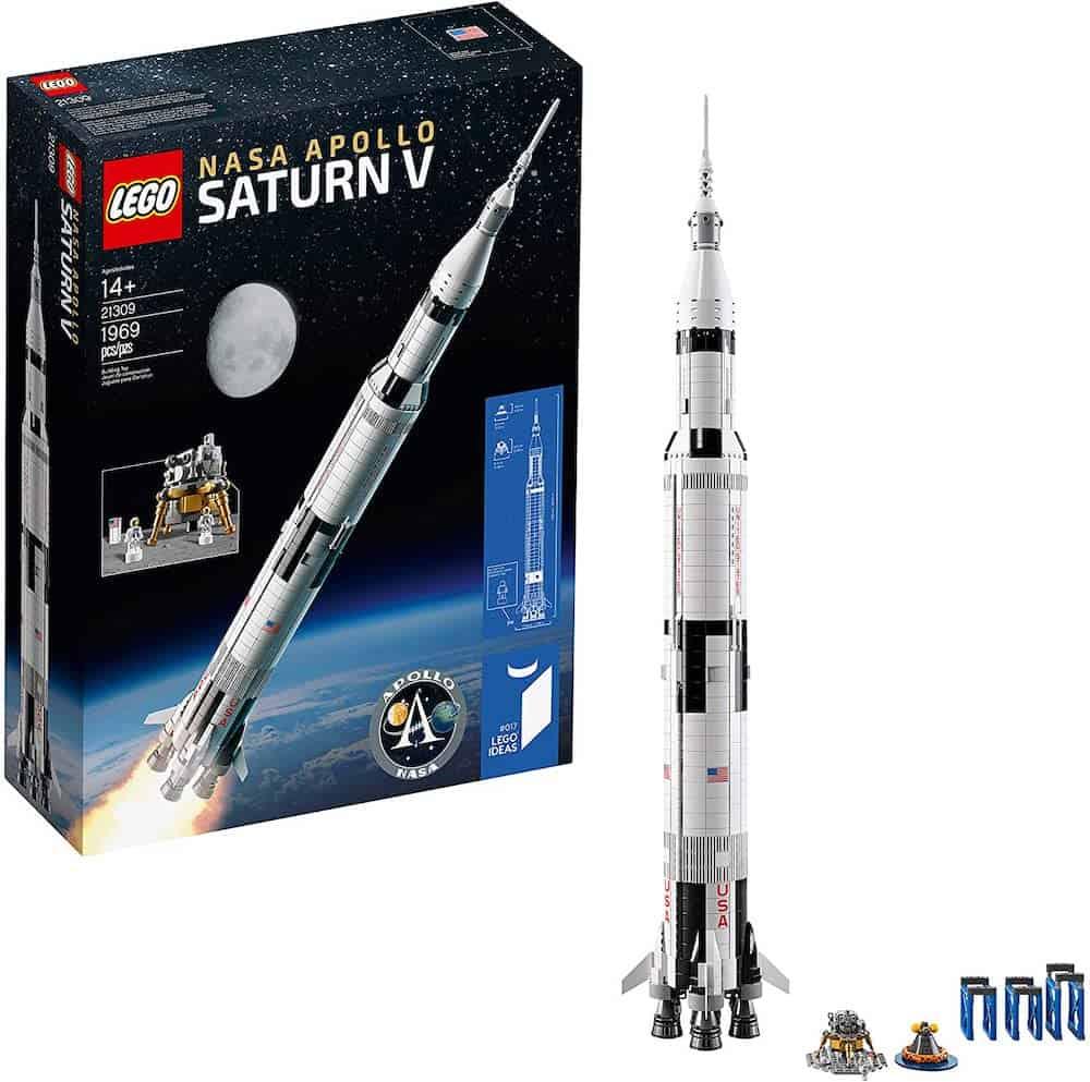 LEGO NASA Apollo Saturn V Outer Space Model Rocket for Kids