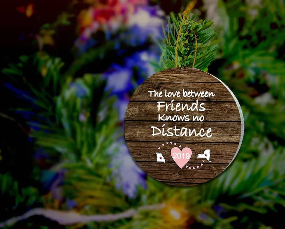Long Distance Friendship Ornament Gift