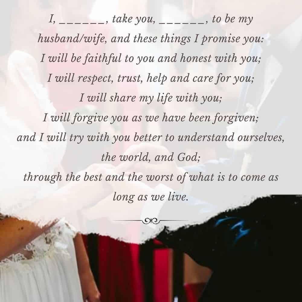 Lutheran Wedding Vows
