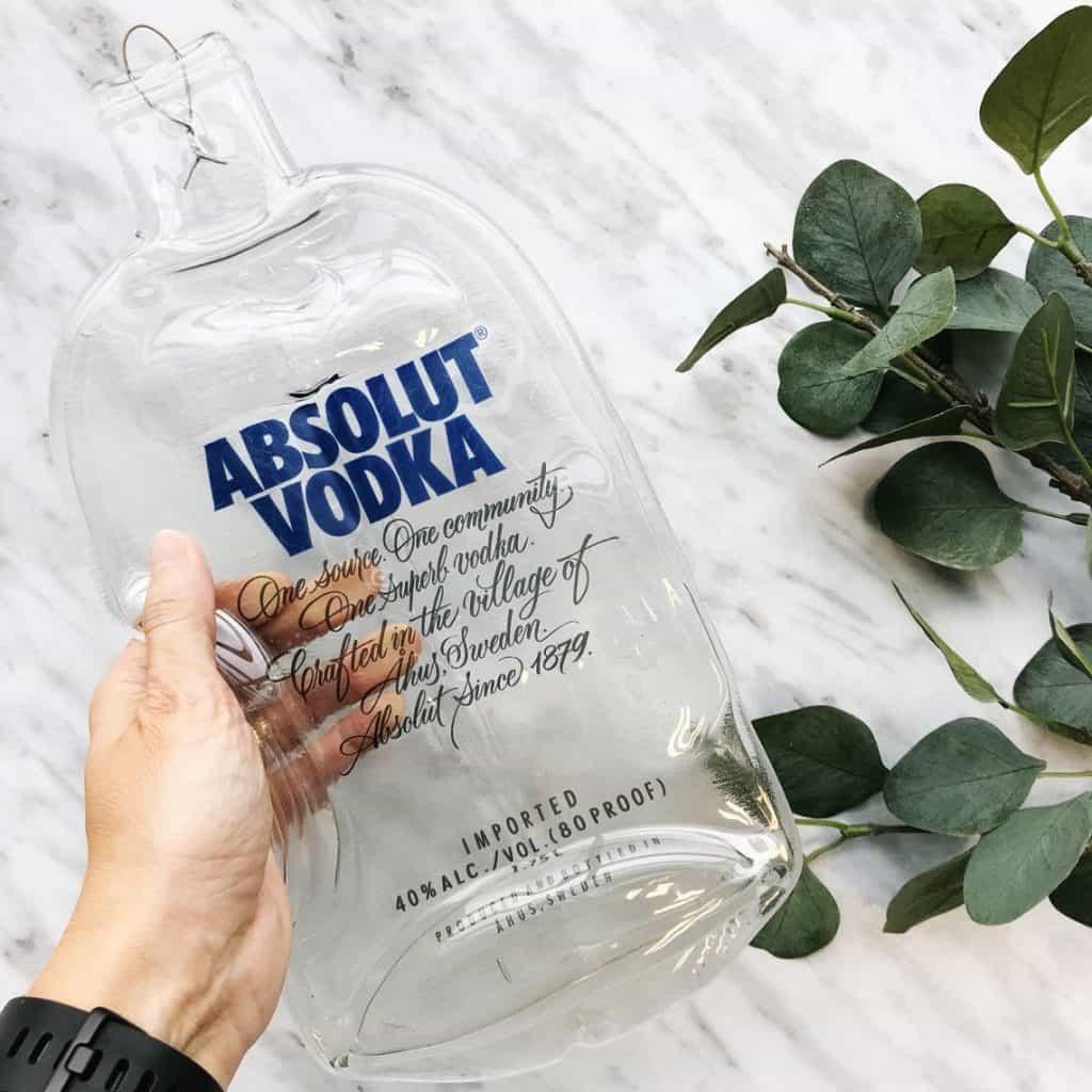 Melted Absolut Vodka Bottle