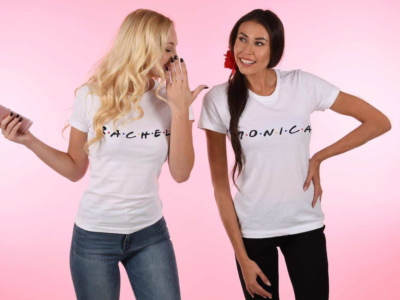 Monica And Rachel Duo T Shirt For Long Distance Friendship