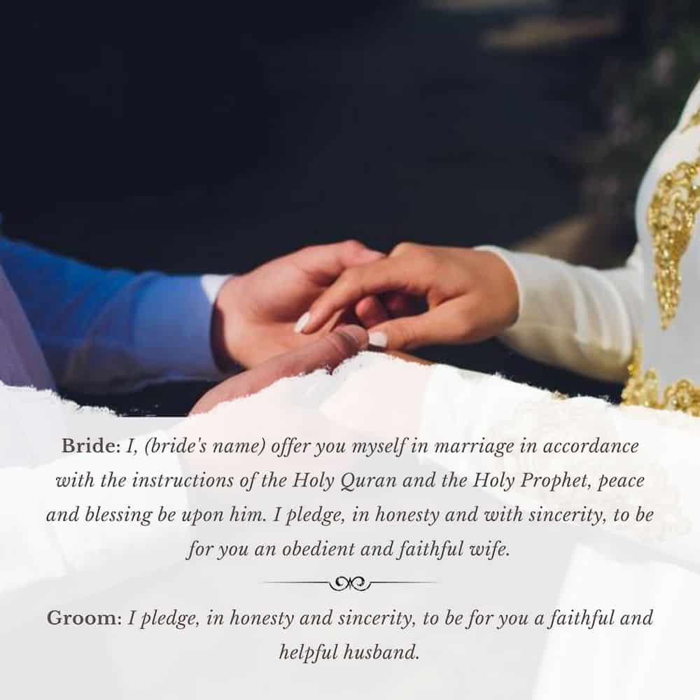 Traditional Muslim Wedding Vows