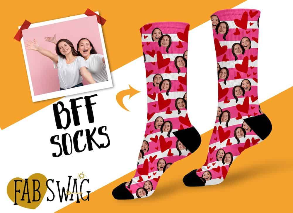 Photo Face Socks As A Funny Long Distance Friendship Gift