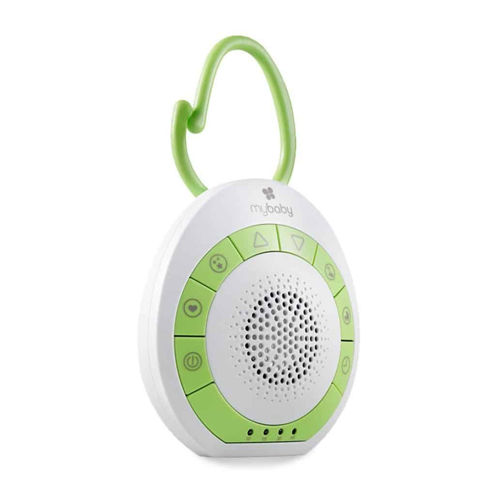 Portable White Noise Machine with white and green color