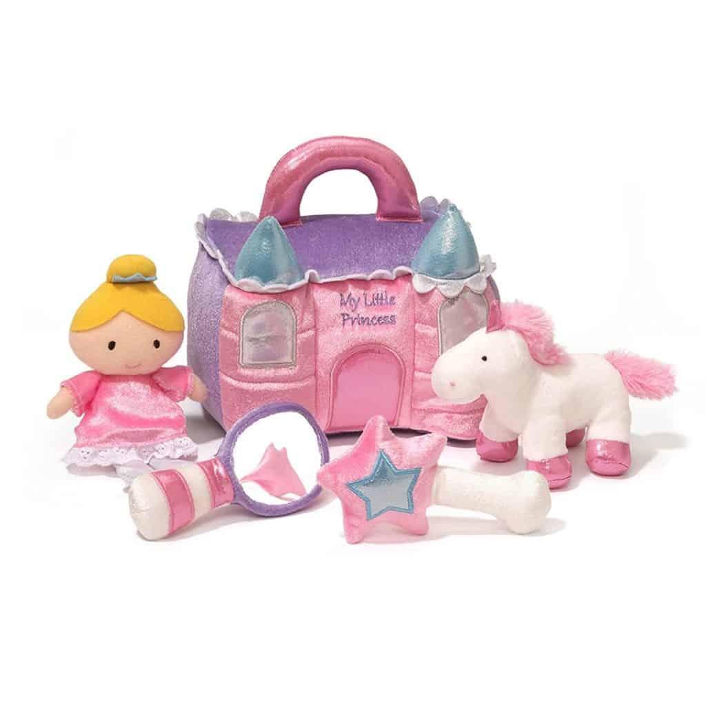 Princess Castle Stuffed Plush Playset with princess, horse, etc