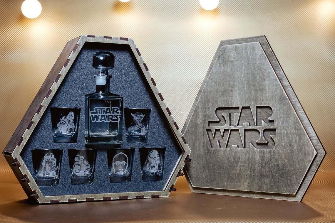 Star Wars Whiskey Decanter Set - groomsmen gift ideas