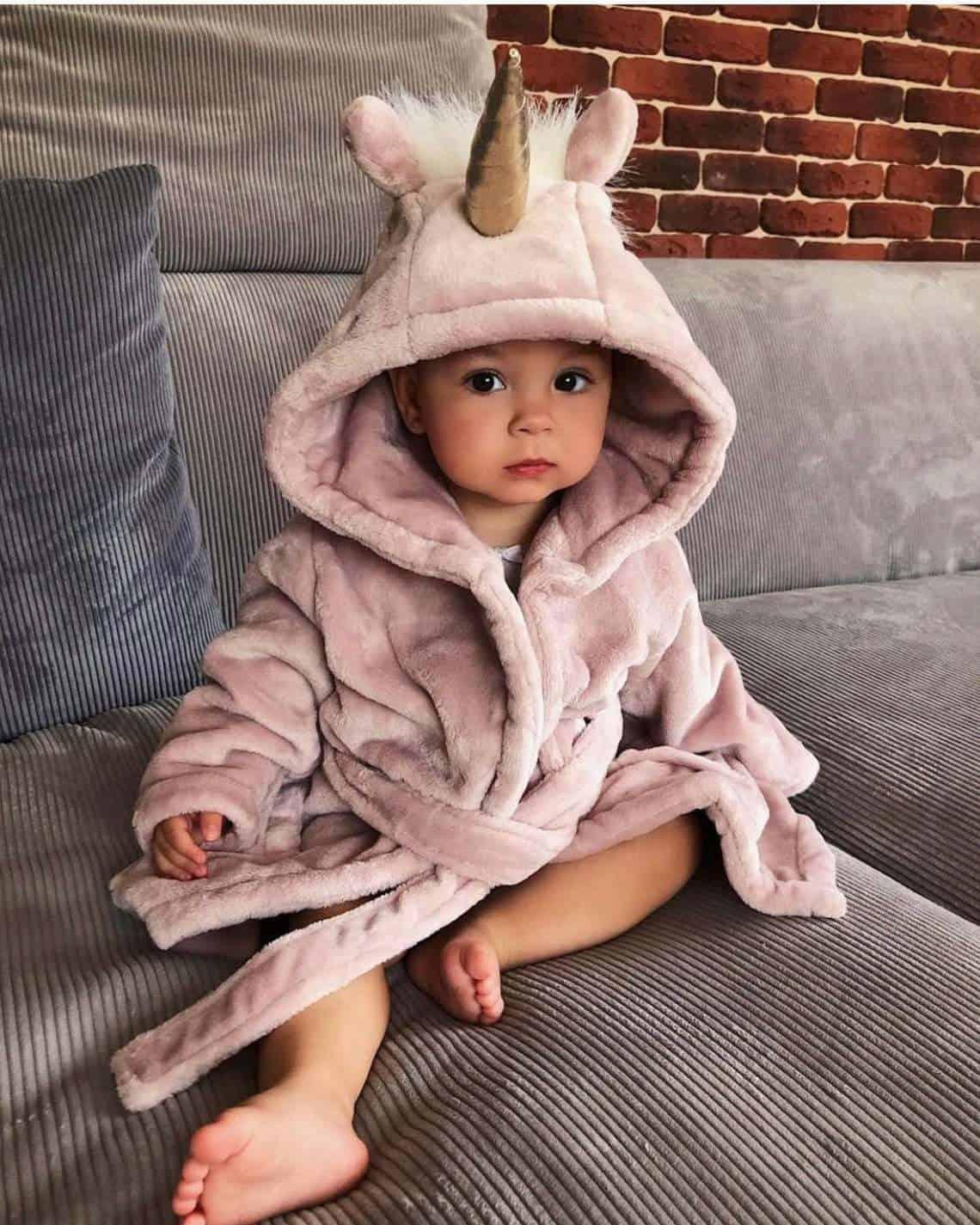 Plush Pink Unicorn Bathrobe