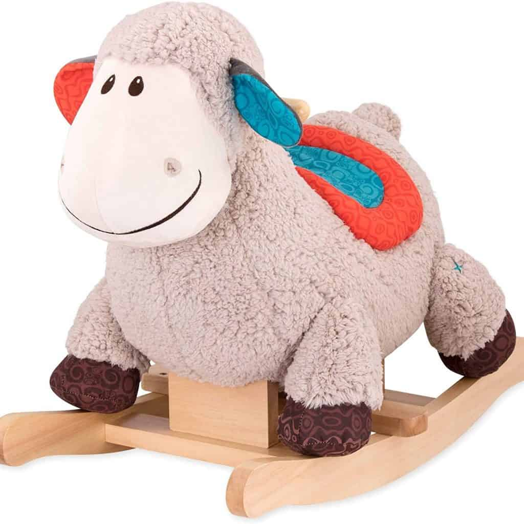 Loopsy Wooden Rocking Sheep for Toddlers with multi colors