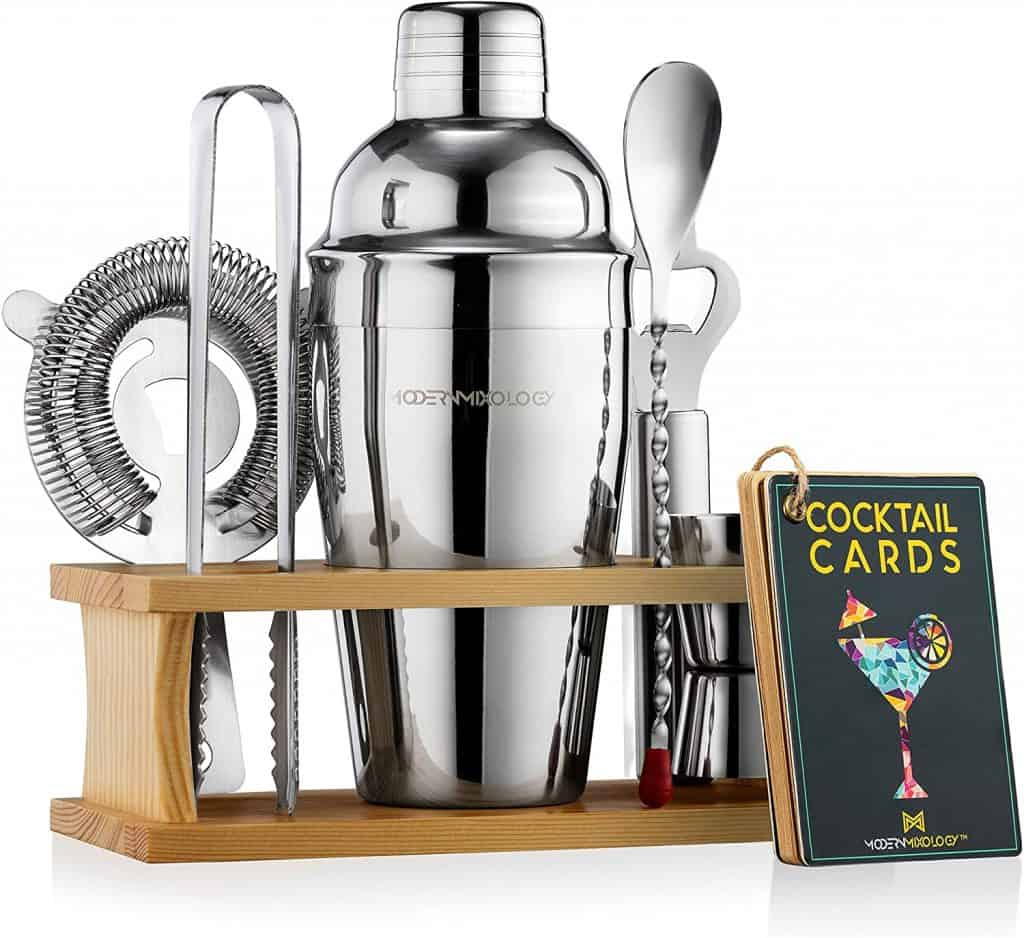 whiskey enthusiast gift idea: Mixology Bartender Kit with Stand