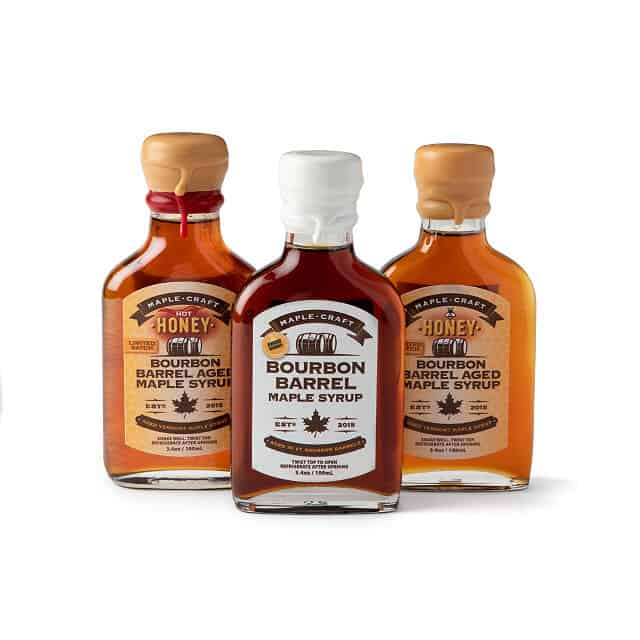 gifts for whiskey lover: Bourbon Barrel Maple Syrup Trio