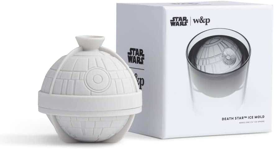 star wars gift for whiskey drinker: death star ice mold