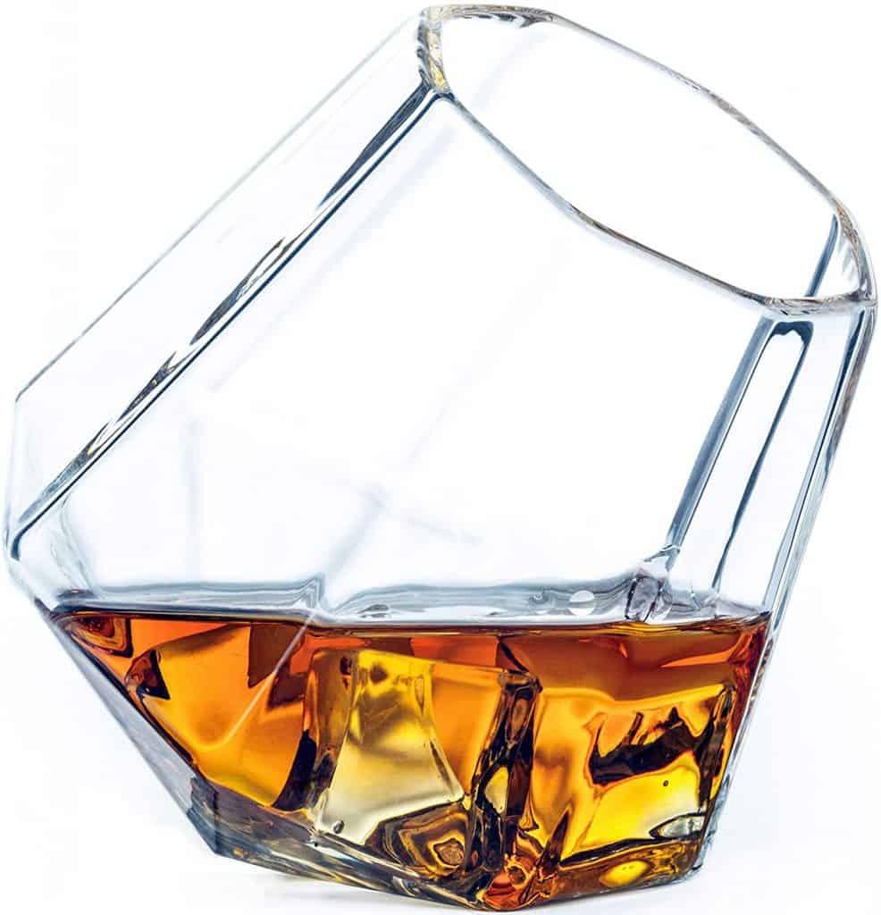 whiskey drinker gift: diamond whiskey glass