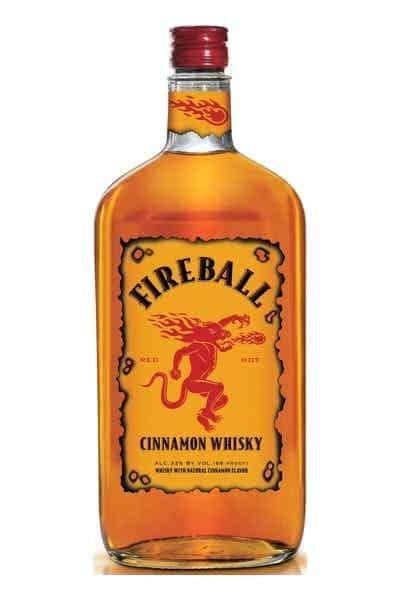 whiskey gift idea: a bottle of fire ball cinnamon whisky