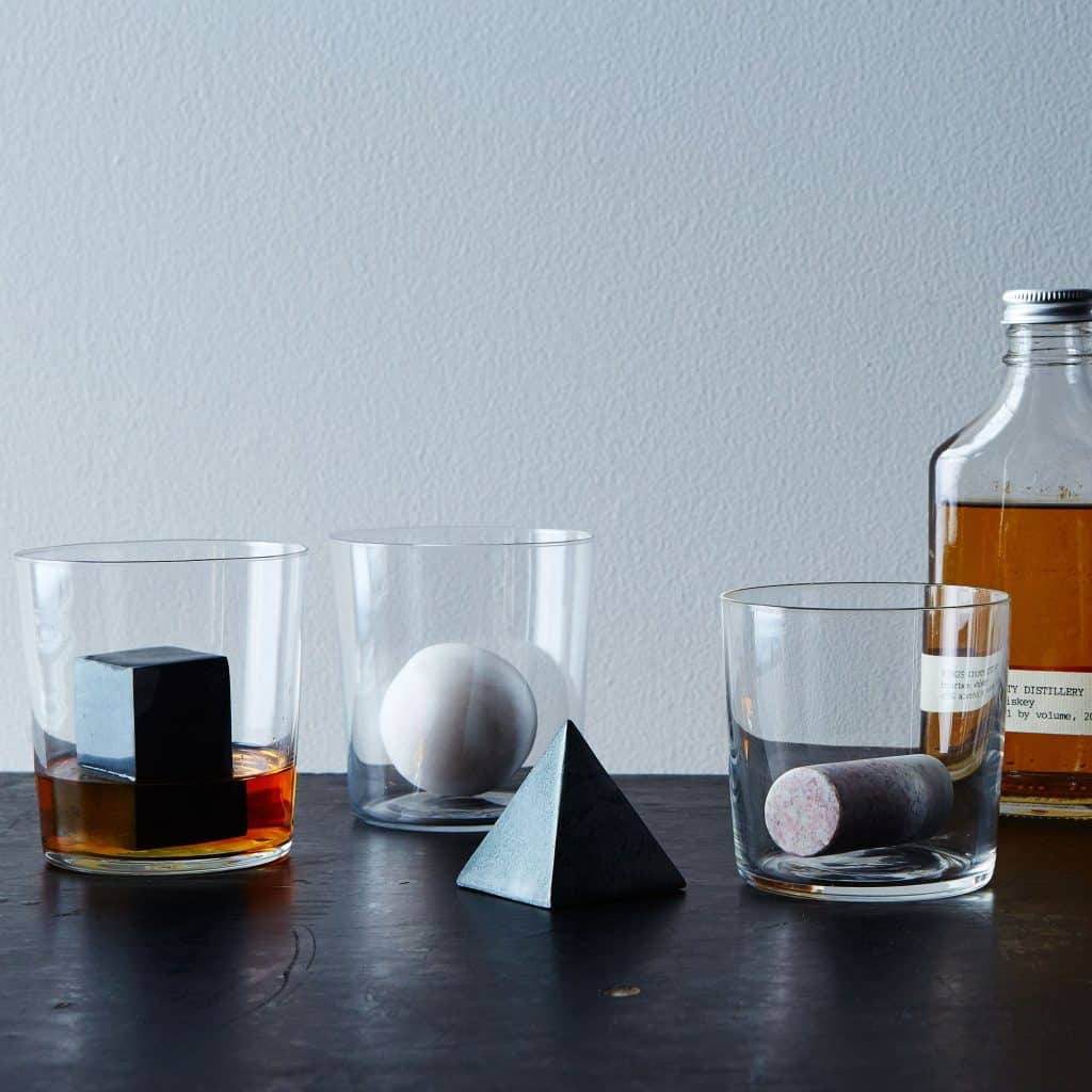gifts for whiskey lovers: geometric whiskey stones