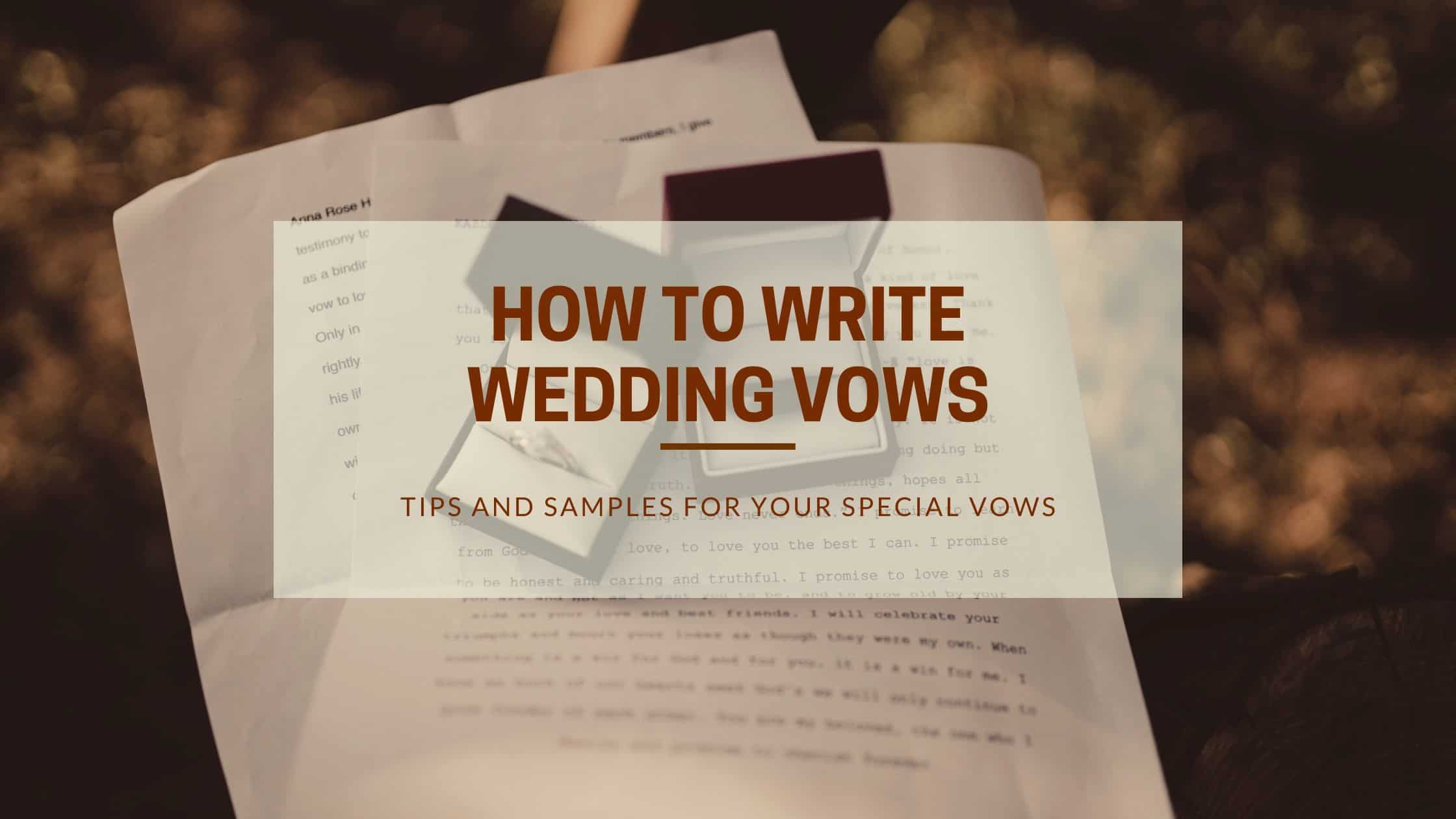 how to write wedding vows - blog banner