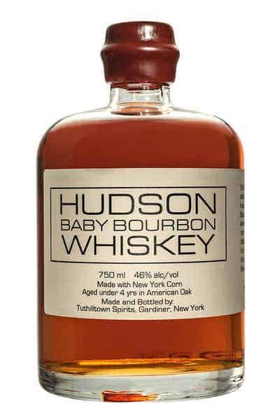 whisky gift ideas: a bottle of Hudson Baby Bourbon Whiskey
