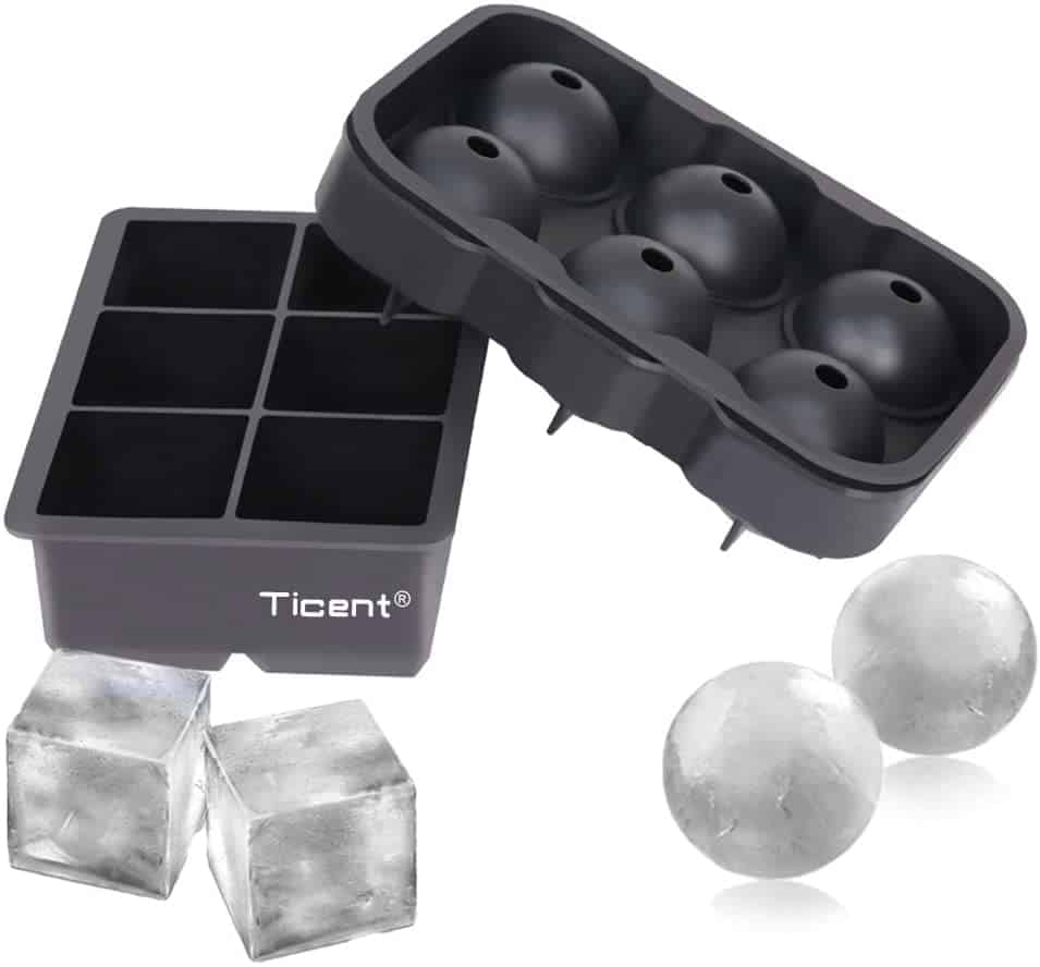 ice cube and sphere trays for whiskey drinking