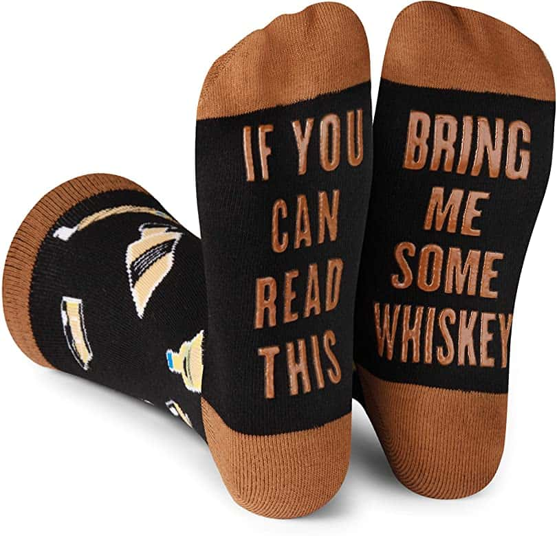 gifts for whiskey lovers: If You Can Read This Bring Me Novelty Socks