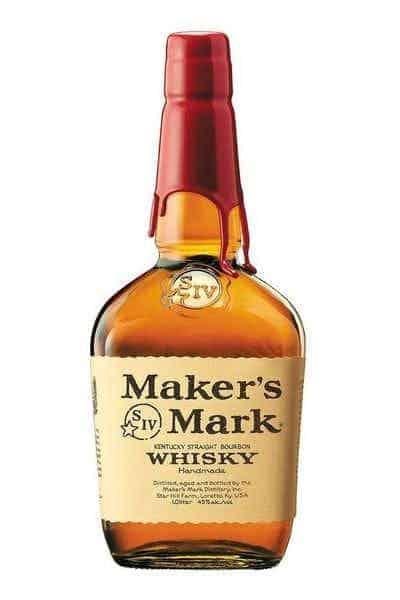 gift for whiskey drinker: a bottle of Maker's Mark Bourbon Whiskey