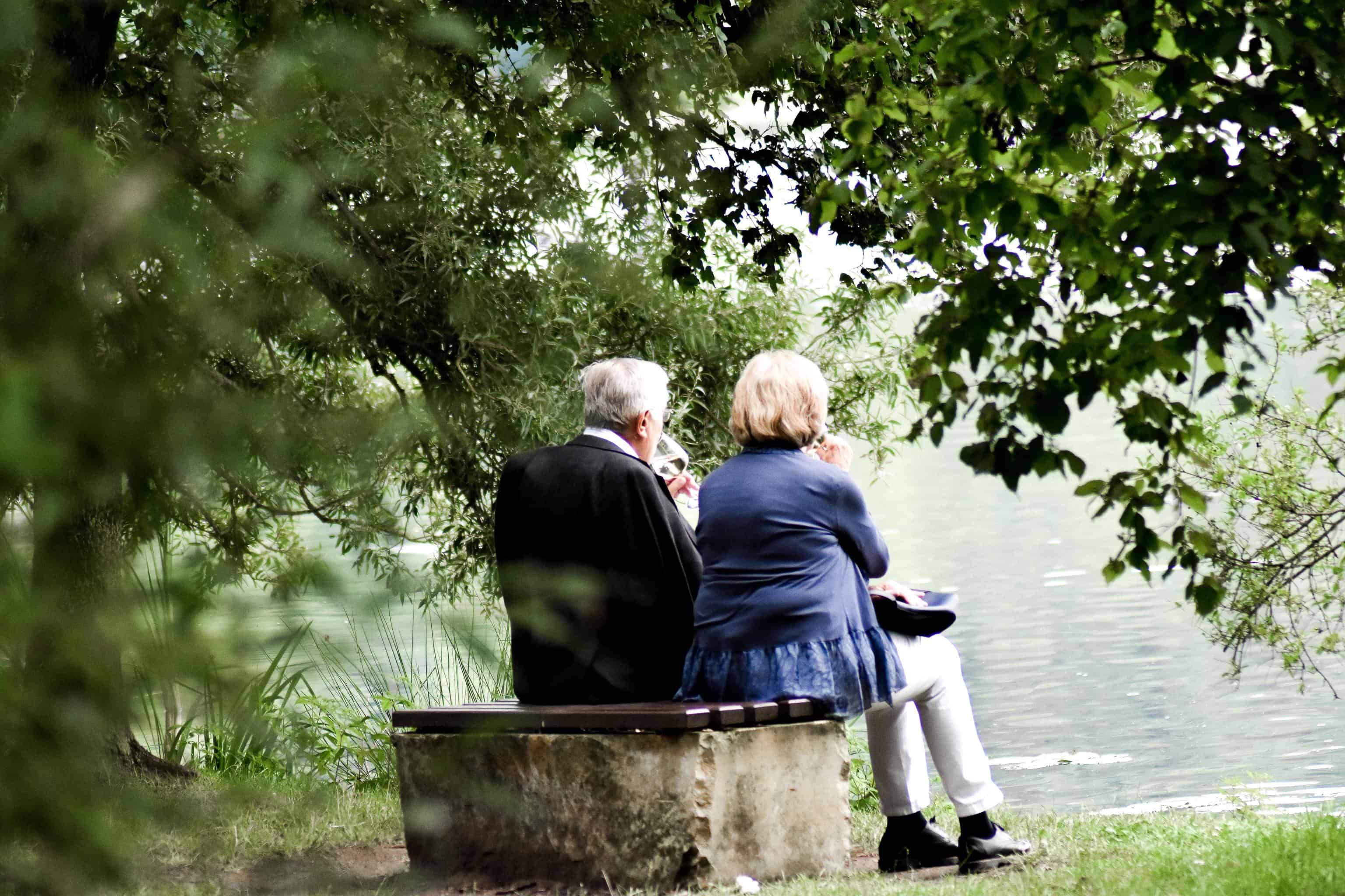 old couple sitting together