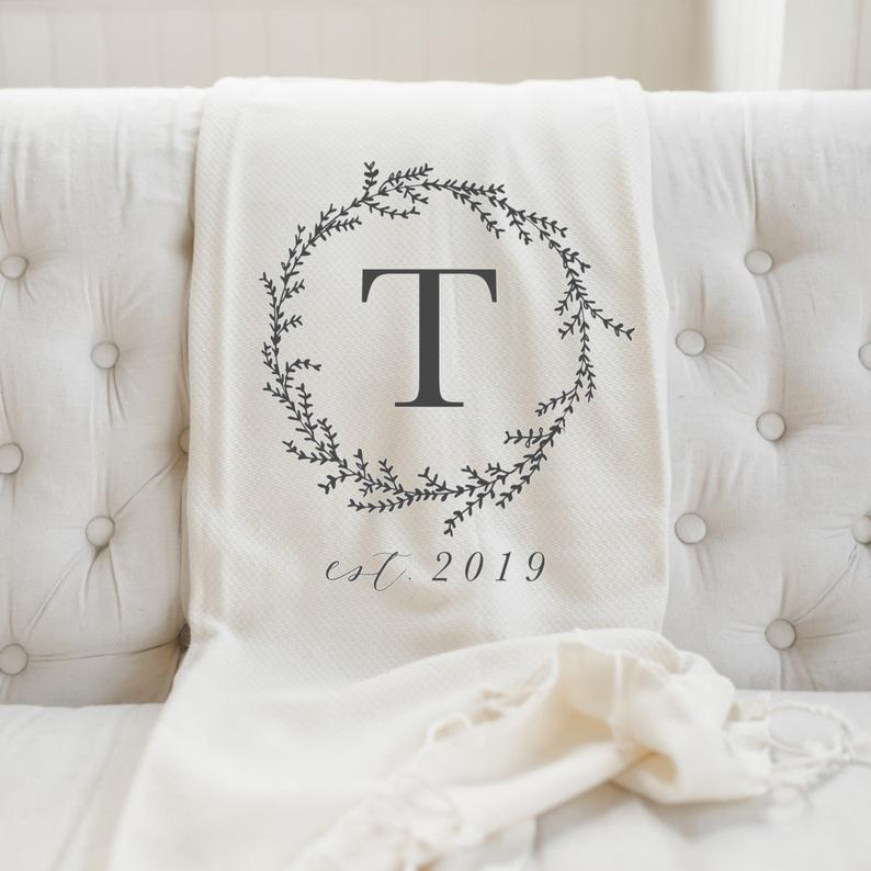 baby shower gift for mom: Personalized throw blanket