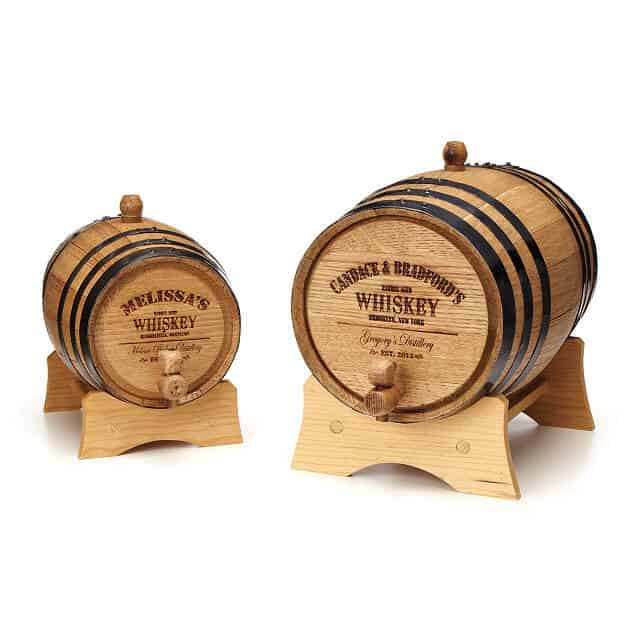 unique gift for whiskey drinker: Personalized Whiskey Barrel