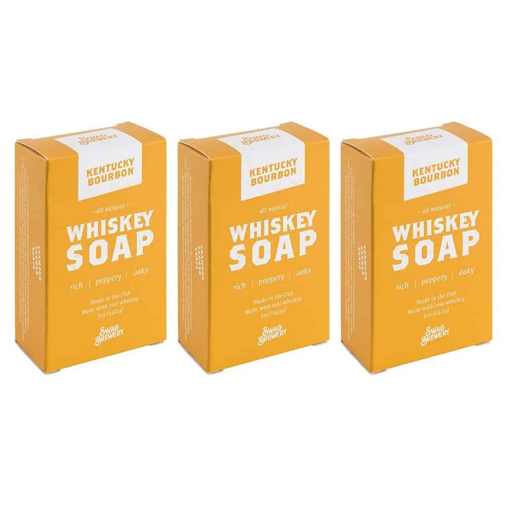 whiskey gift: whiskey soap set